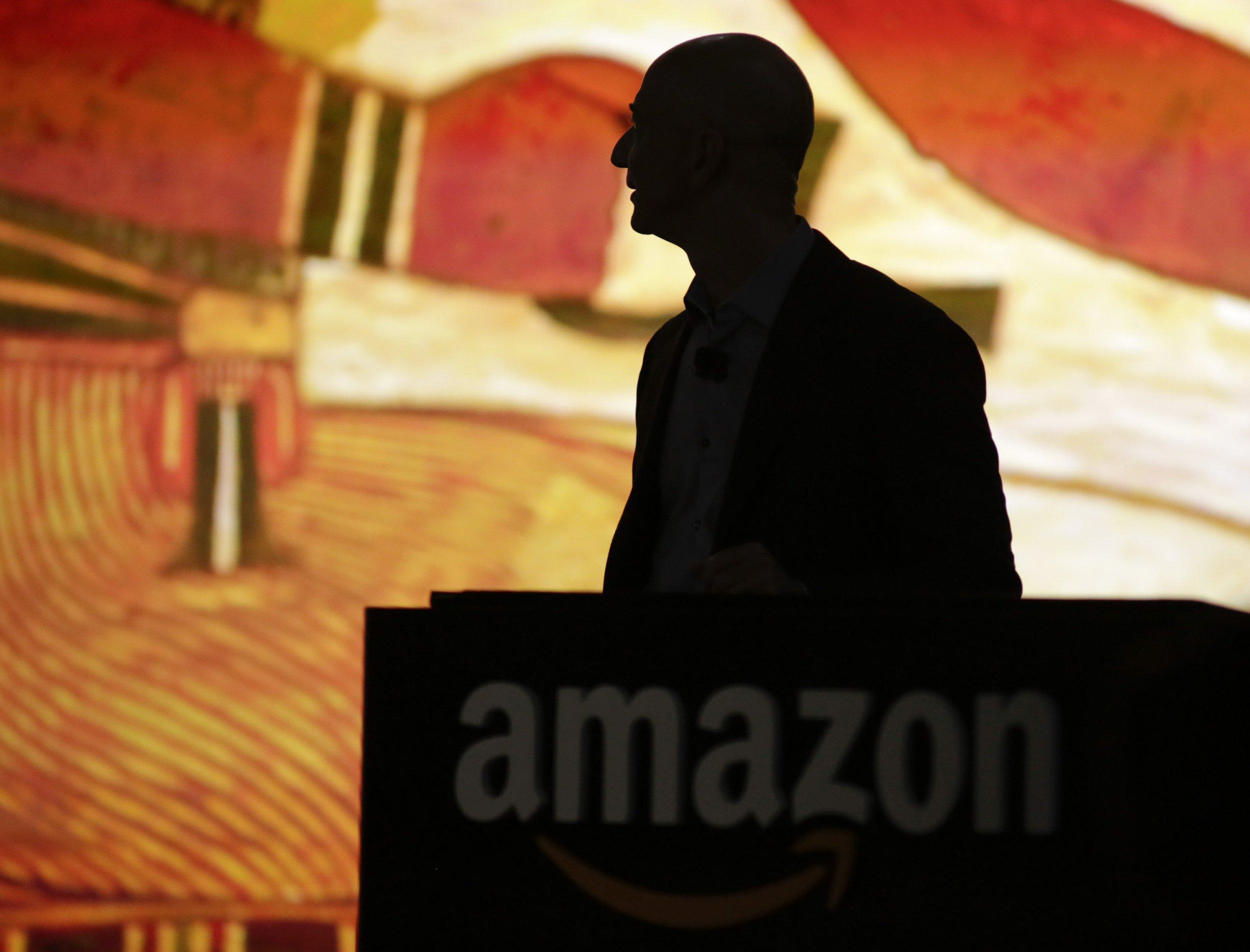 Jeff Bezos Black and Orange