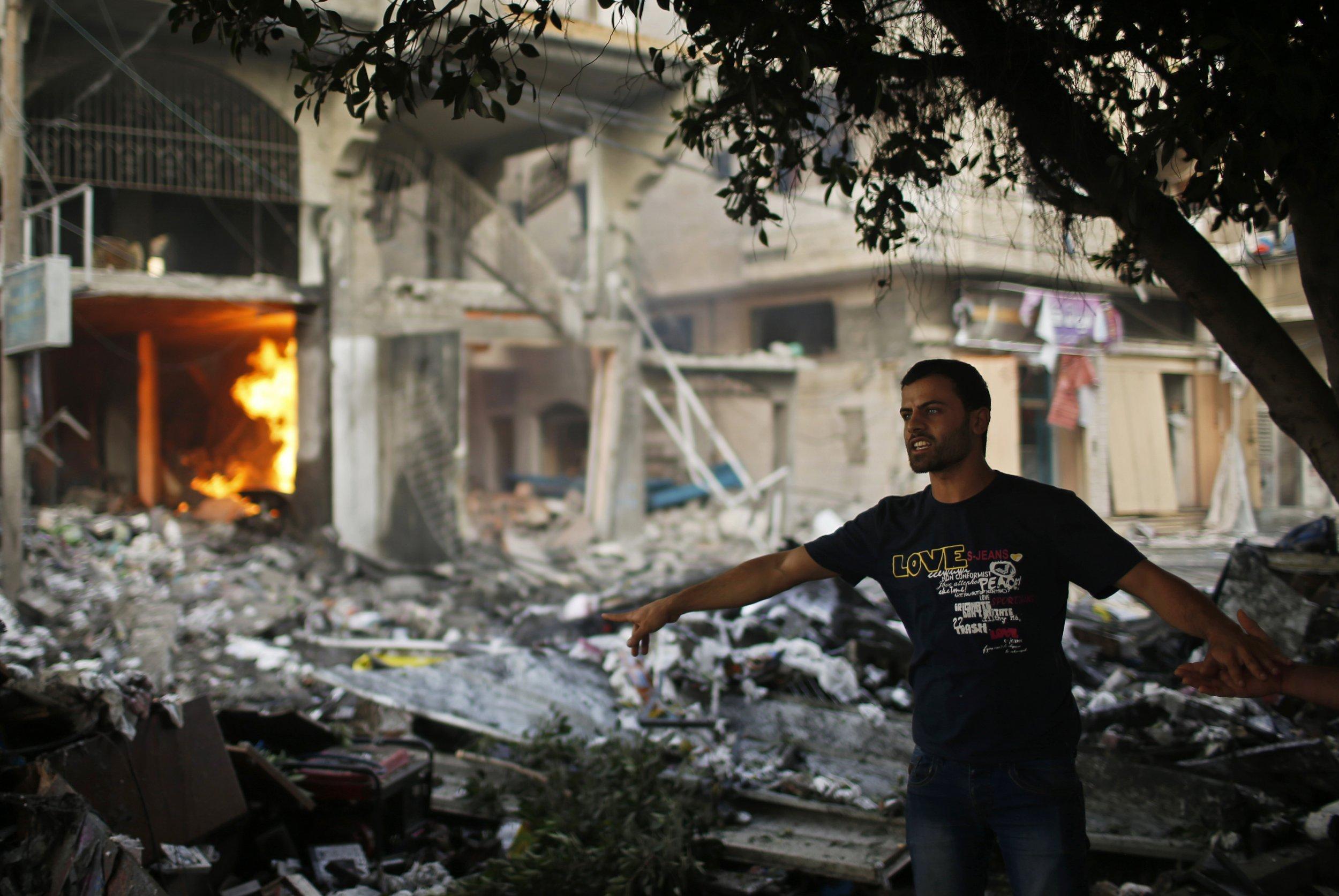Air strikes hit Gaza City