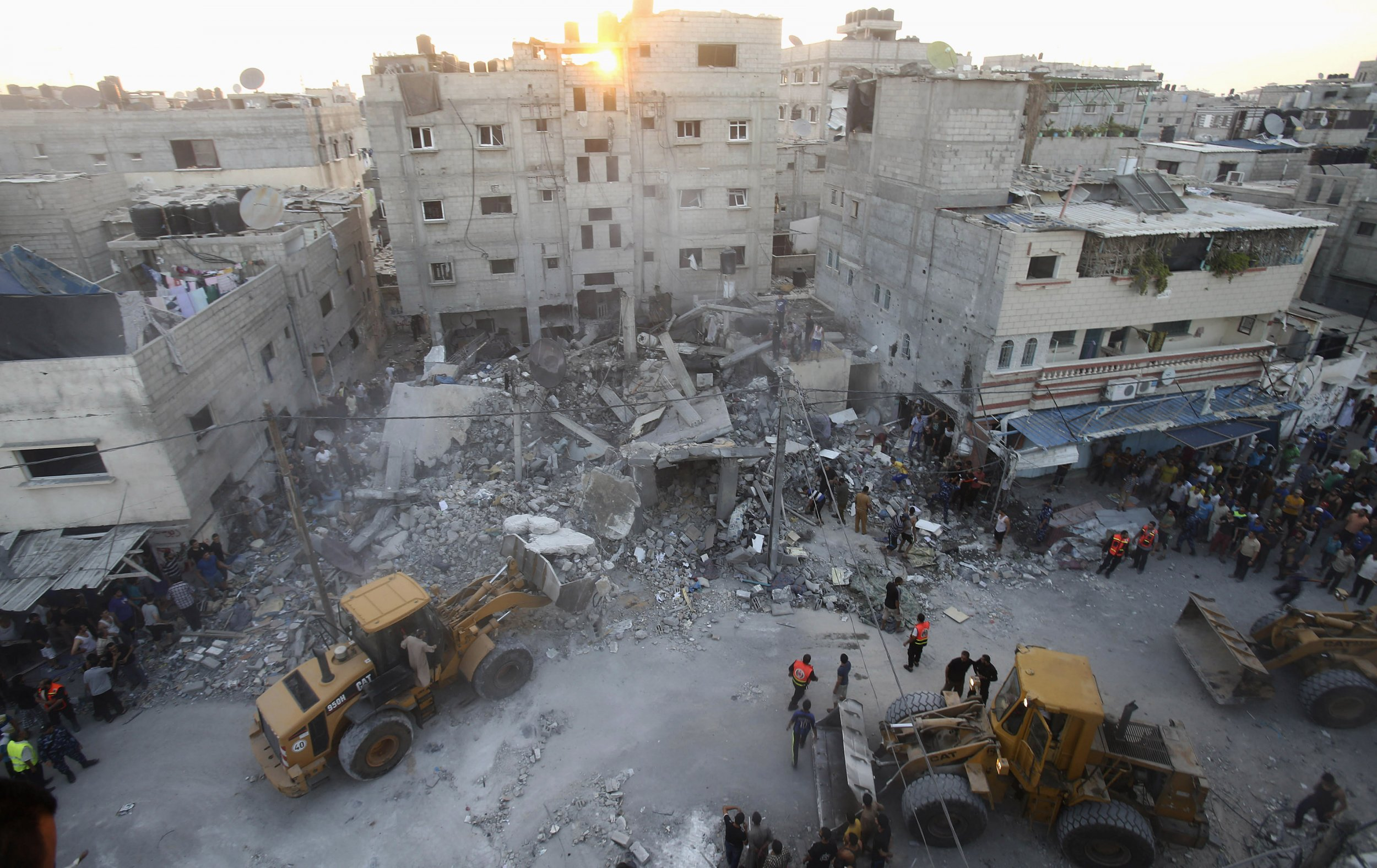 Rubble of house in Gaza