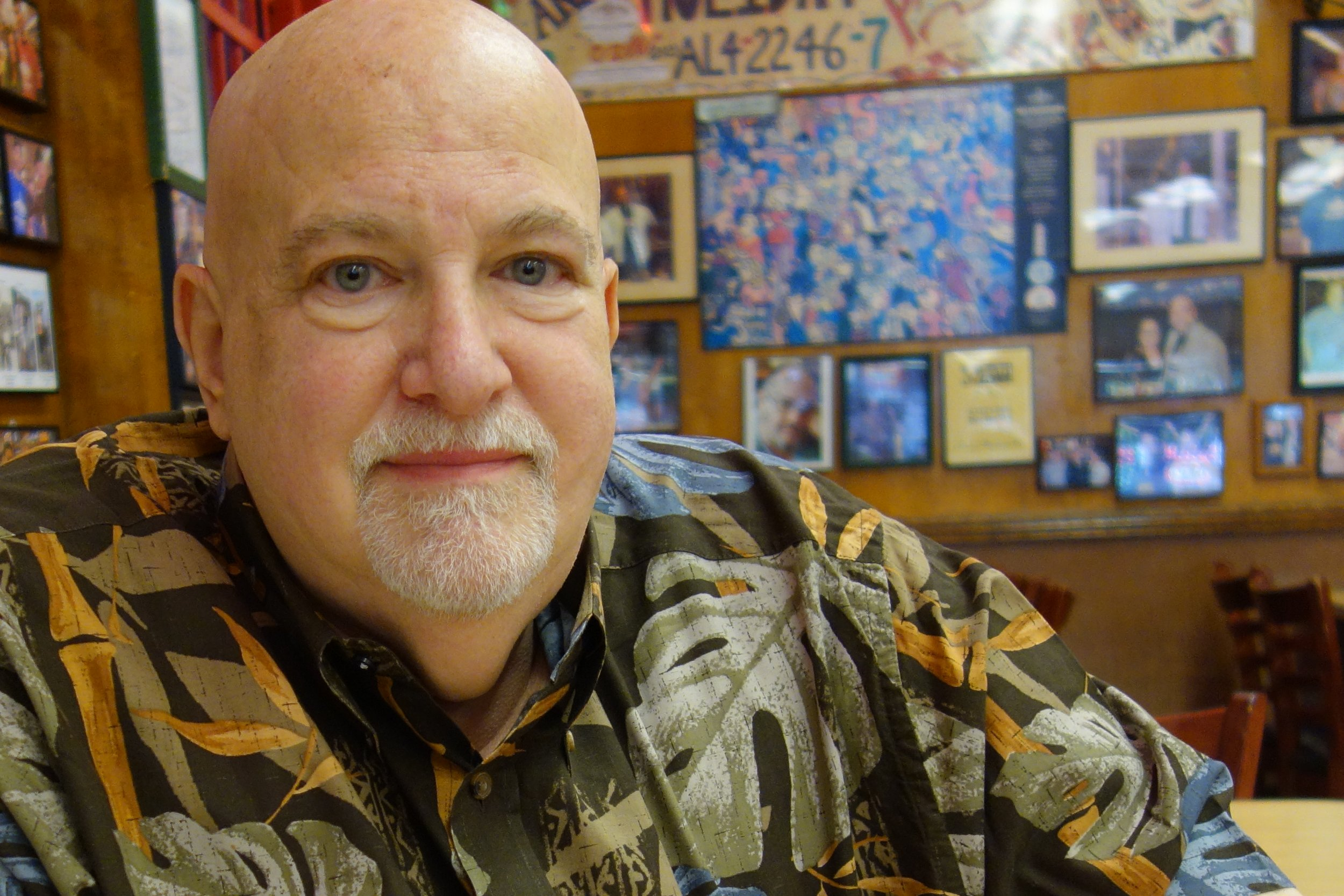 Fred Austin, who has co-owned Katz's Deli since 1988, enjoys an early breakfast on Saturday morning.