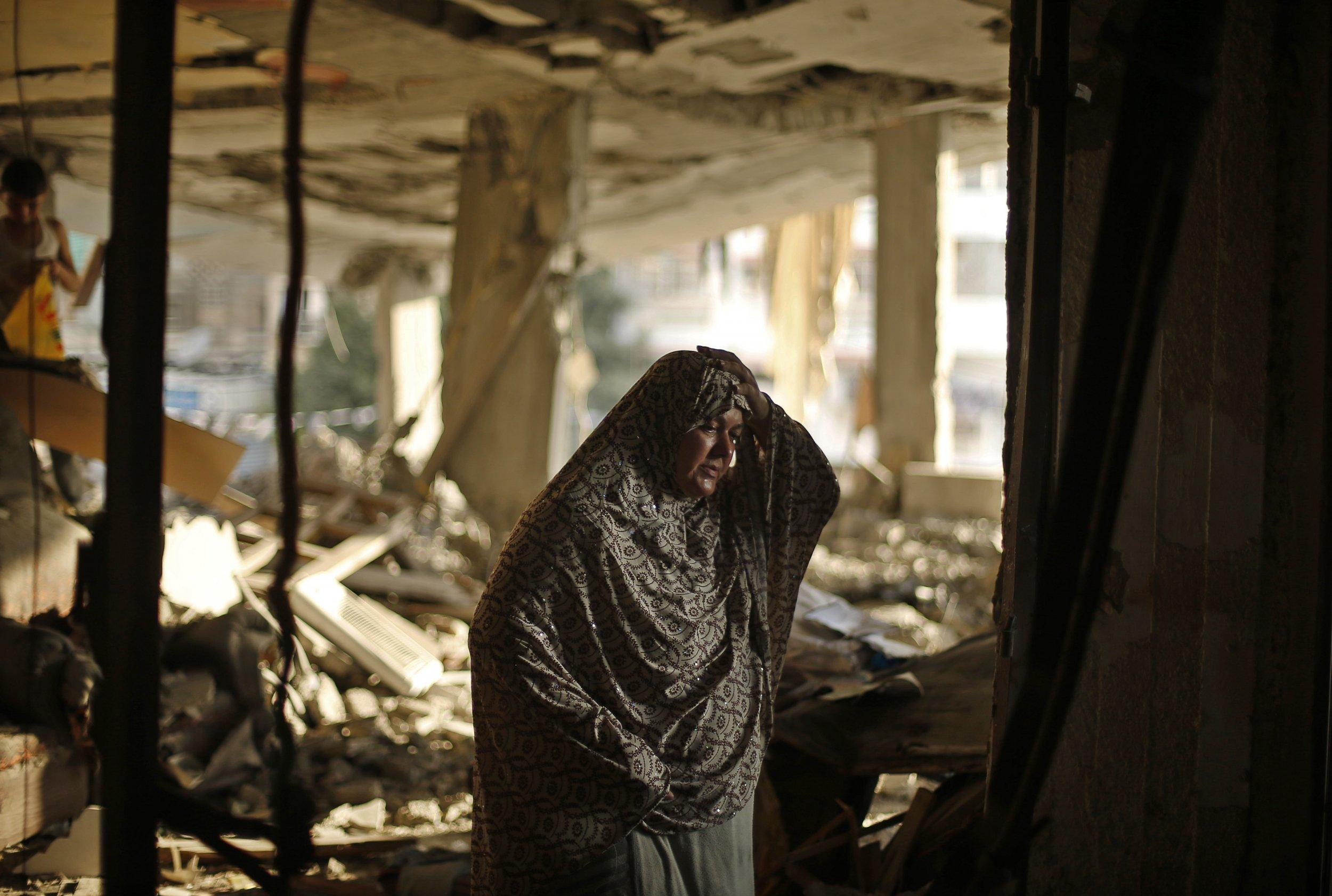 Gaza air strike debris