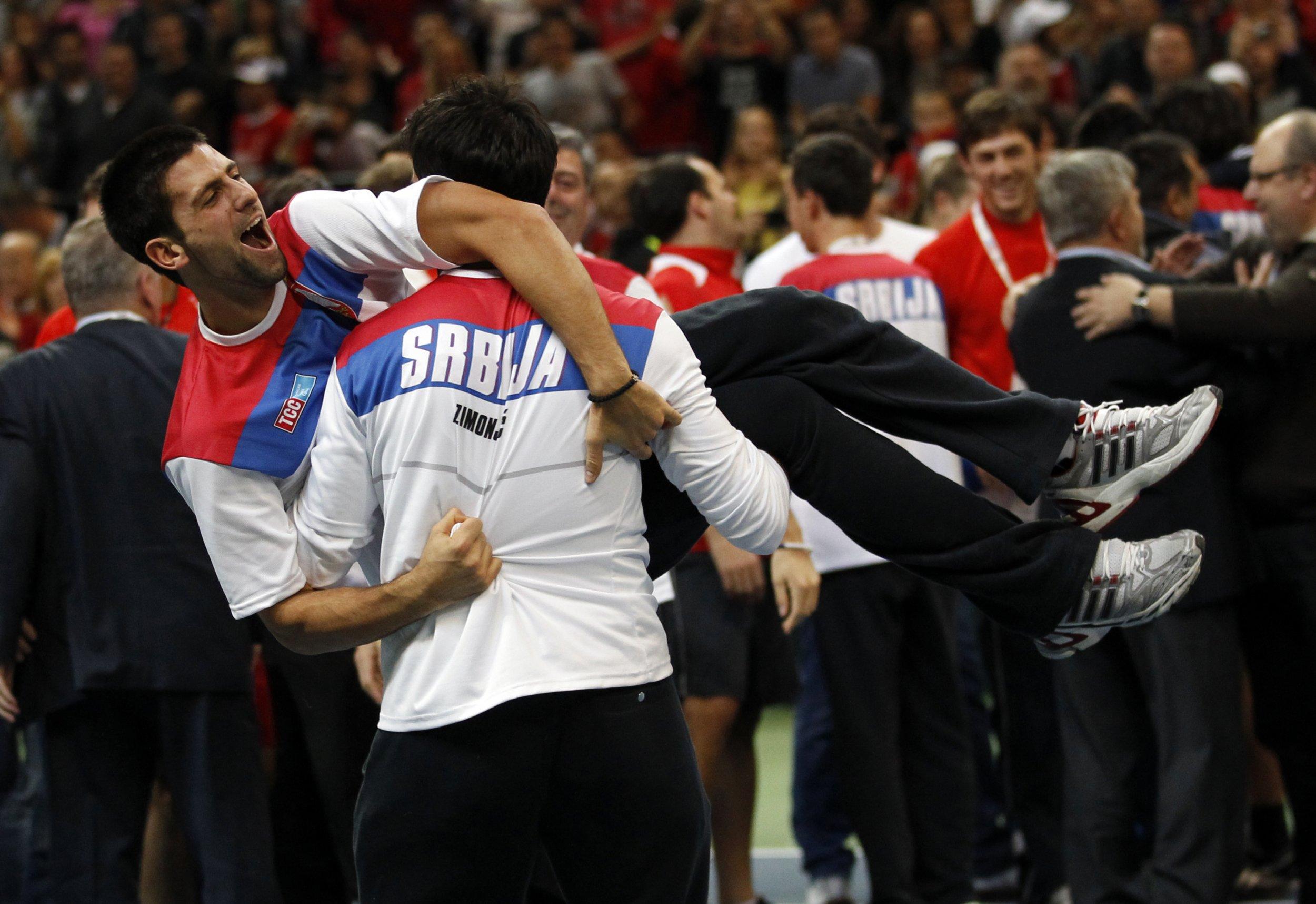 Djokovic with Zimonjic