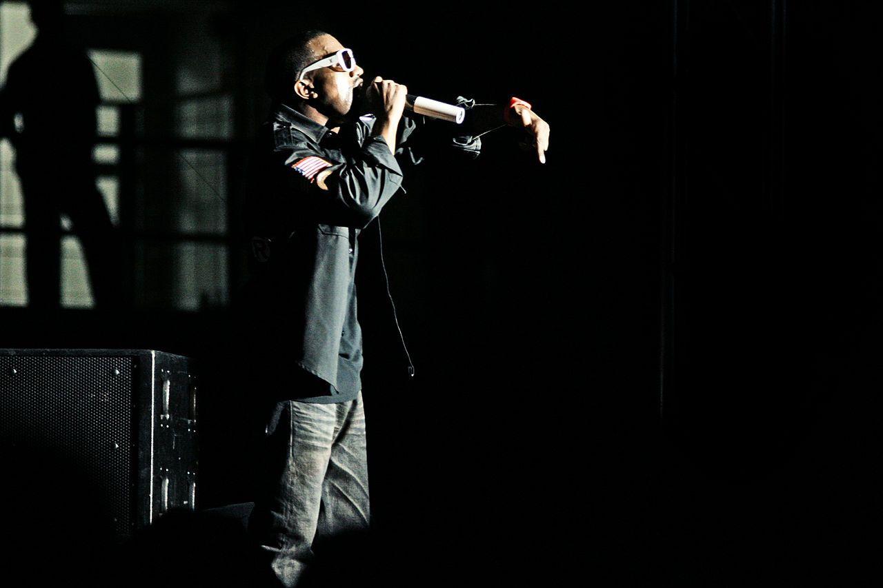 Kanye performing in Kuala Lumpur, Malaysia.