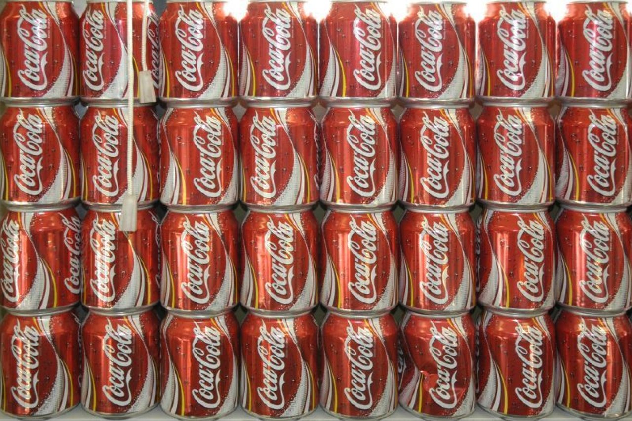 Stack of Coke cans