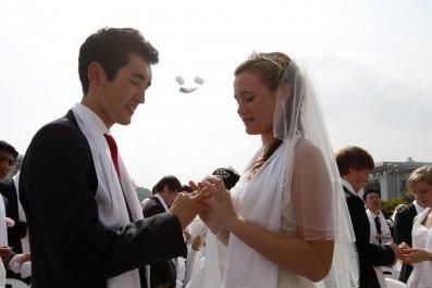 A wedding ceremony.