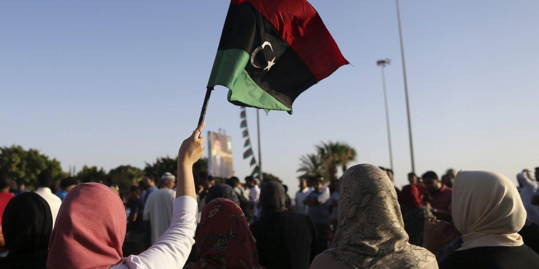 Salwa Bugaighis protest