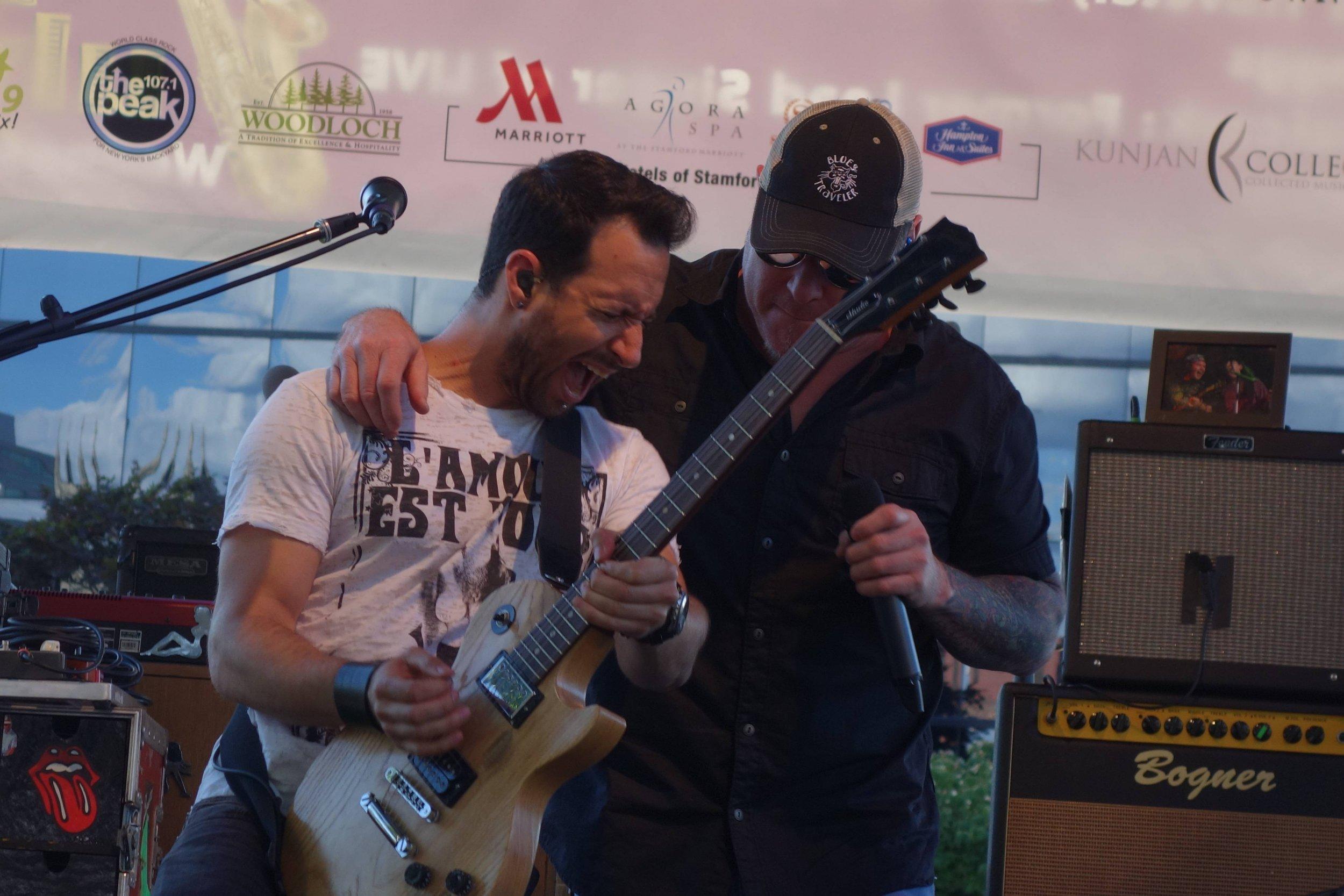 Smash Mouth guitar Sean Hurwitz and singer Steve Harwell.