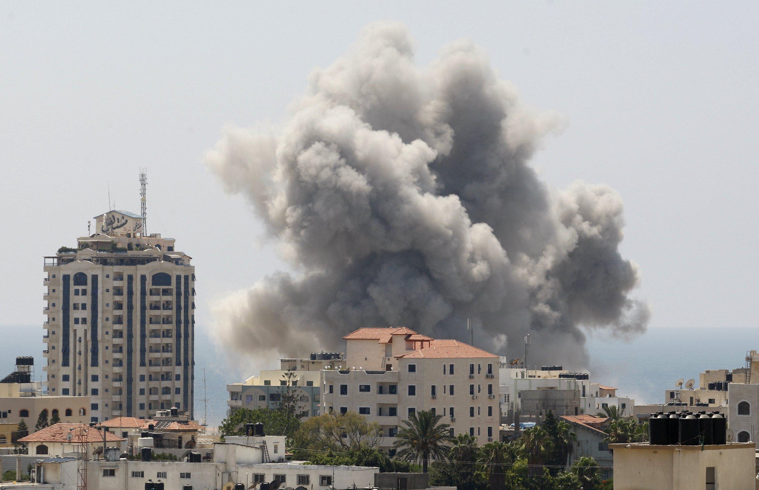 Smoke over gaza