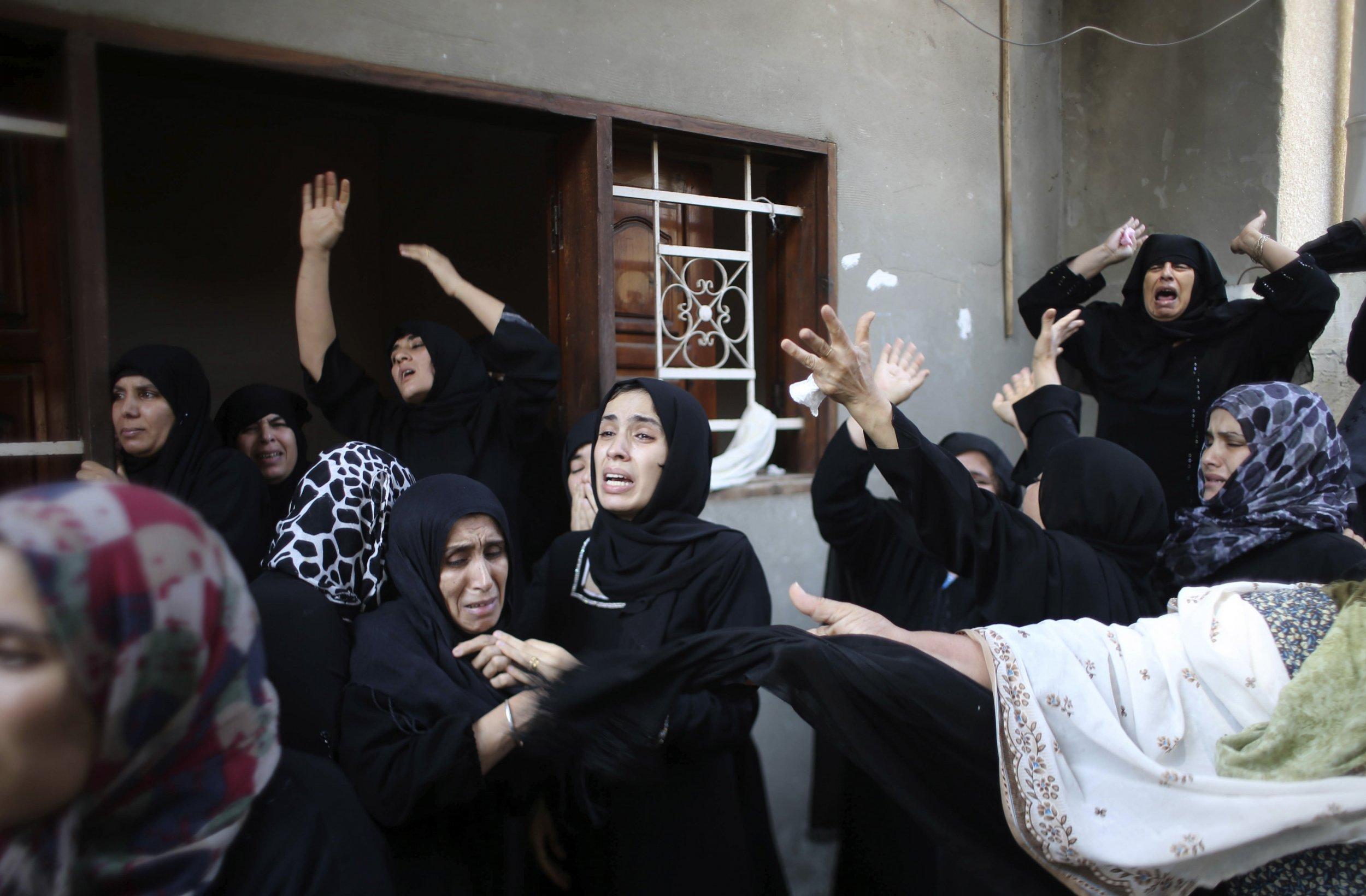Gaza Eid al-Fitr funeral