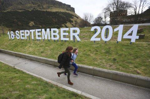 Scottish independence sign