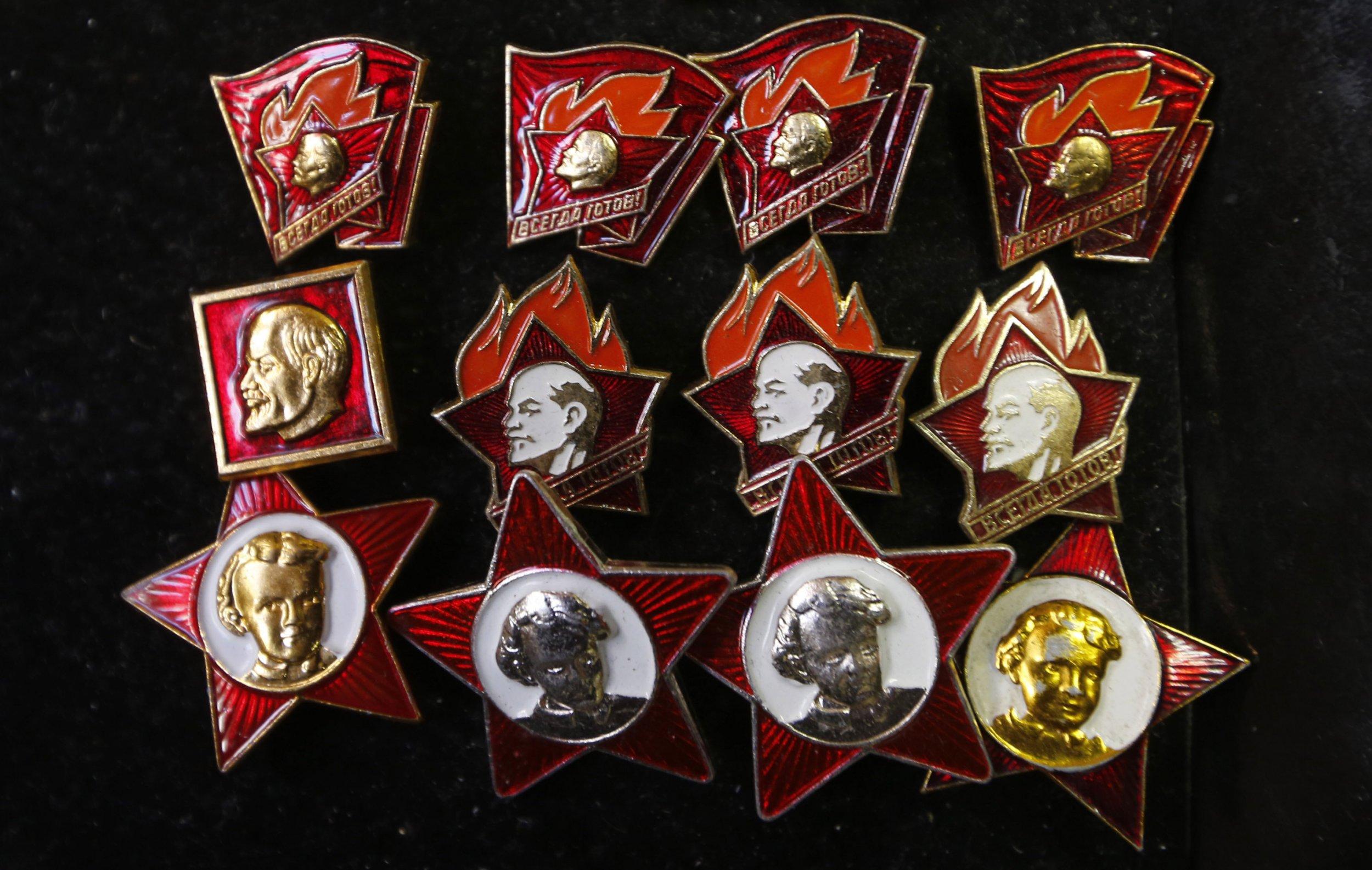 Lenin badges