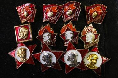 Lenin badges