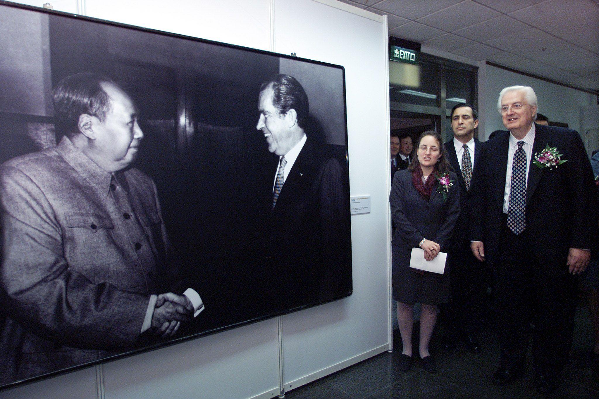 Celebrating Nixon's visit to China.