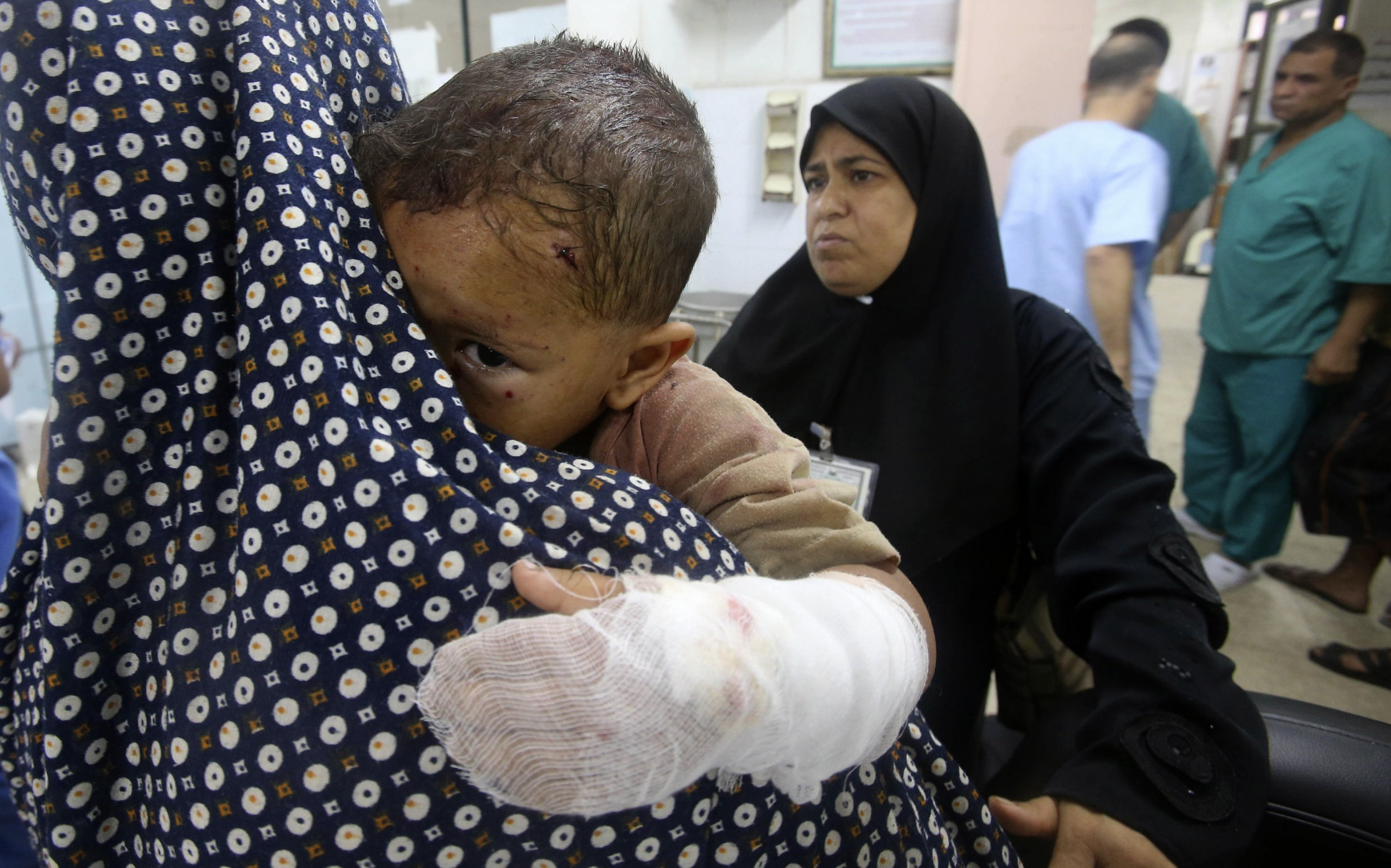Gaza wounded boy