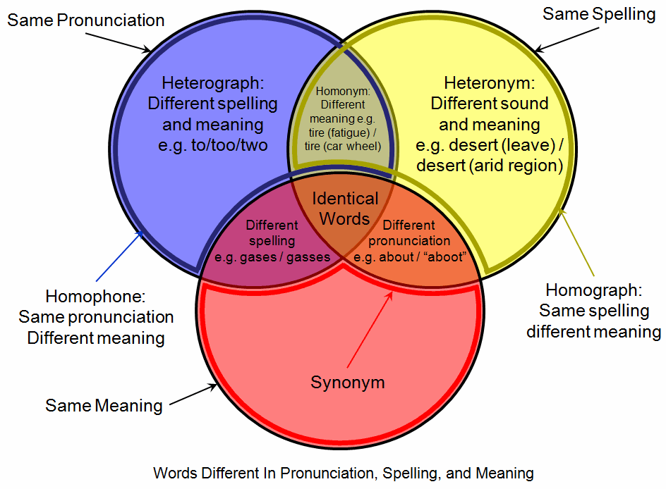 Education blogger fired for writing about homophones and confusing a venn diagram explaining homophones ccuart Gallery