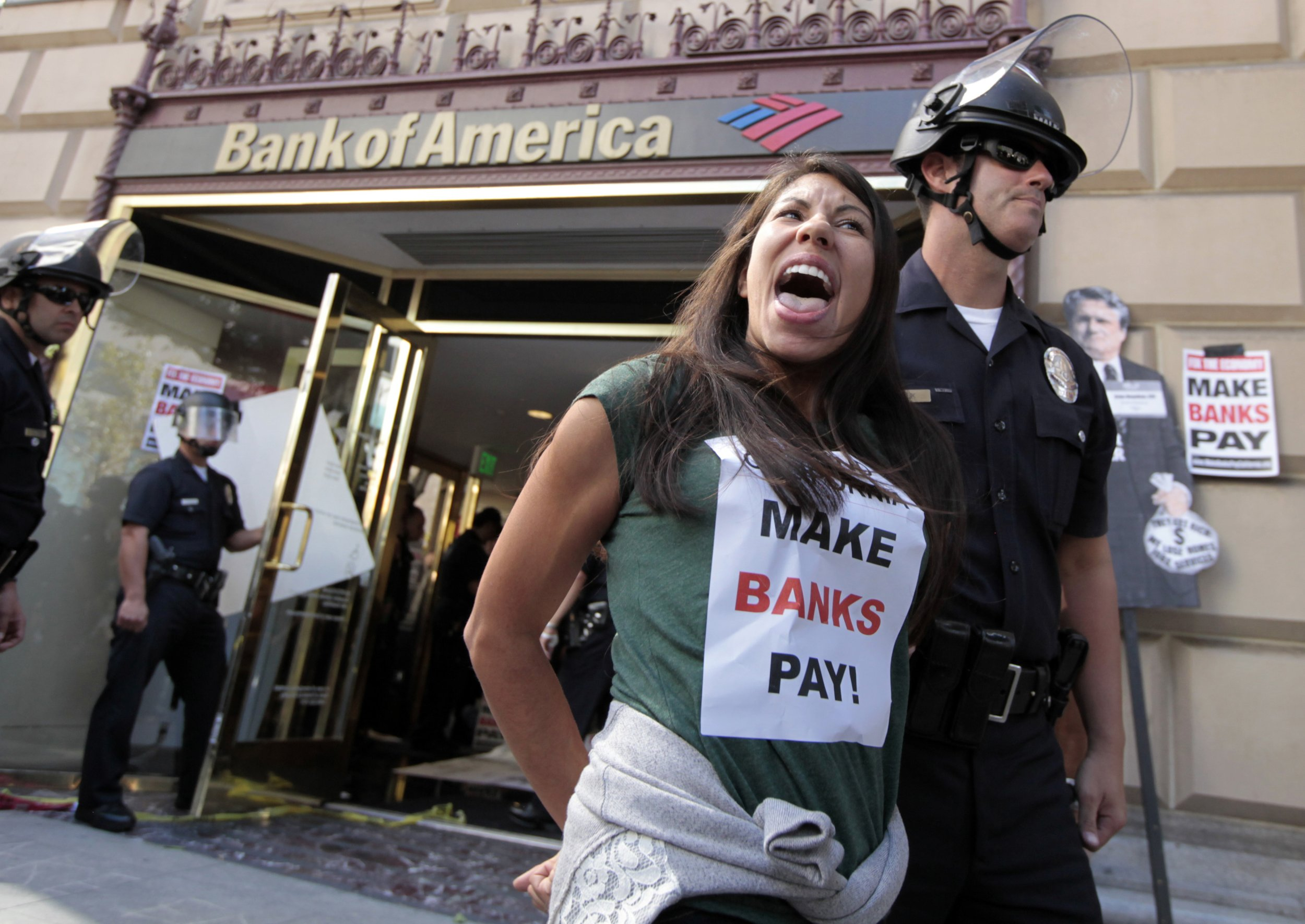 Bank of America protester
