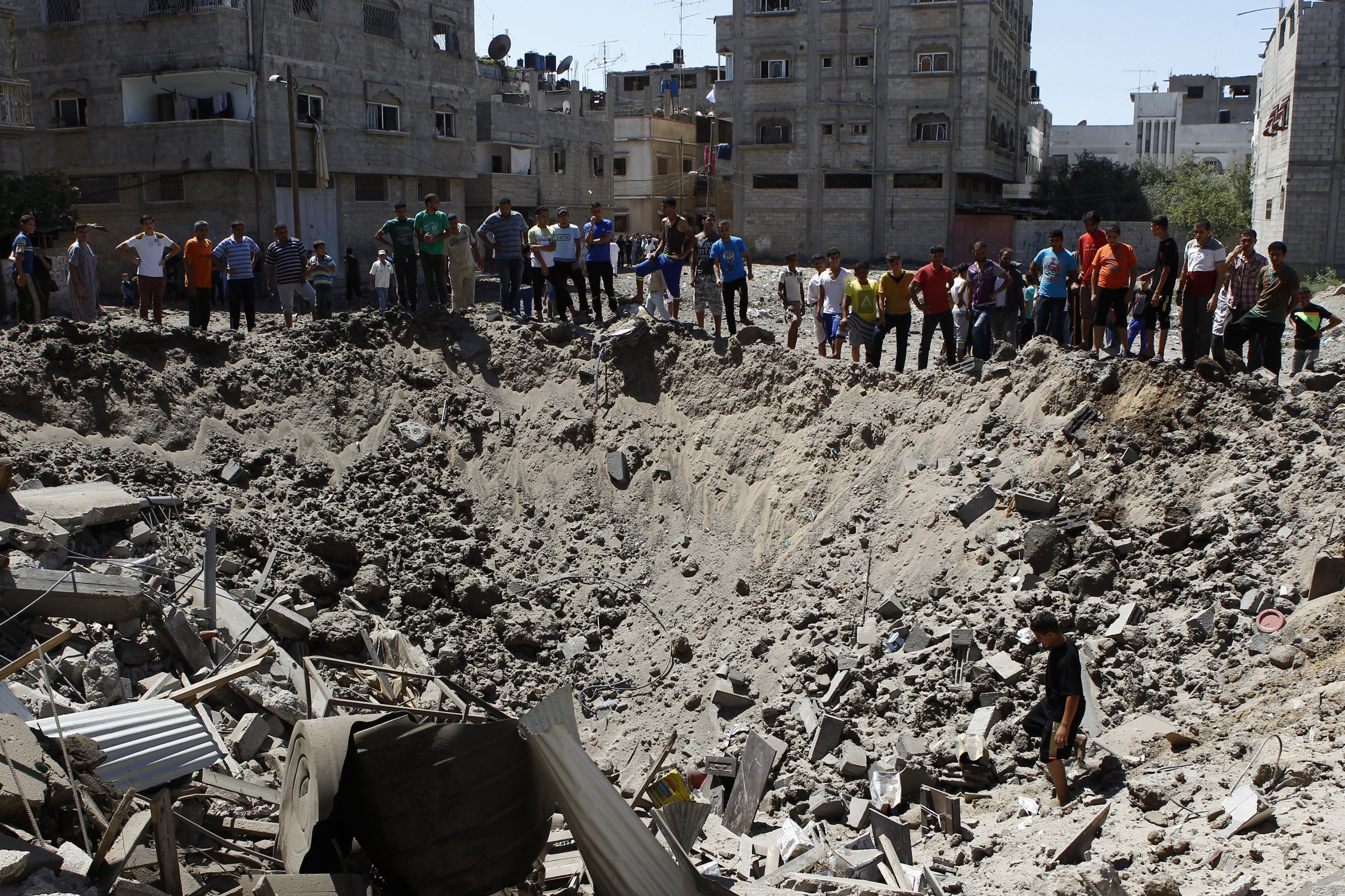 Gaza City crater