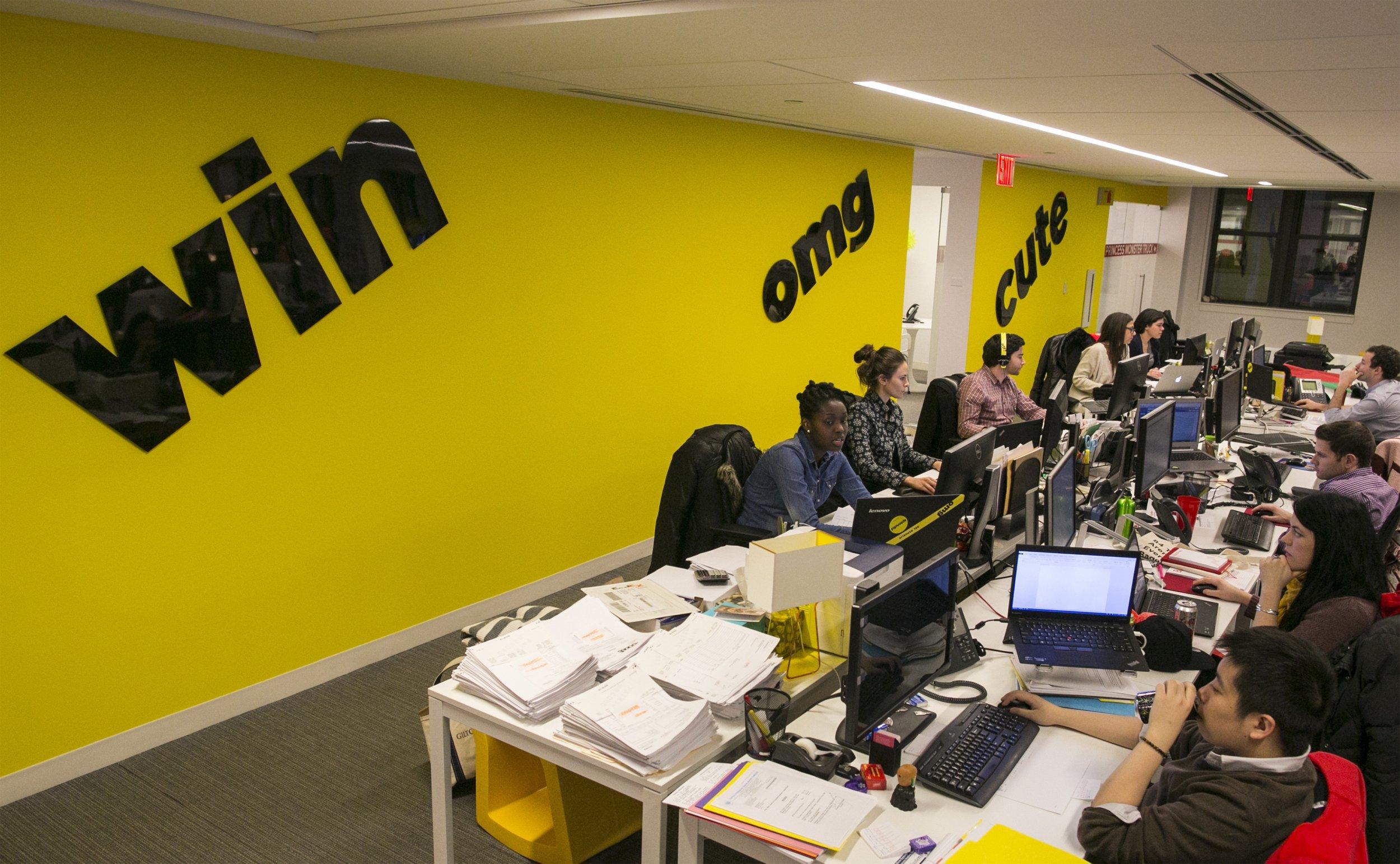 BuzzFeed's headquarters in New York.