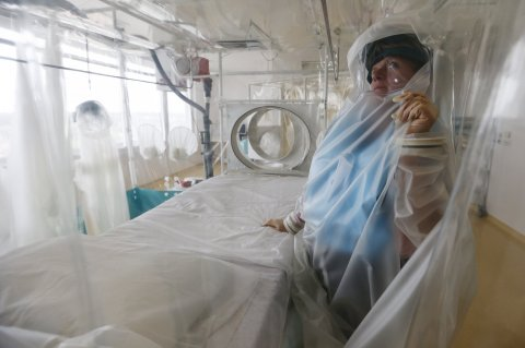 Ebola London hospital