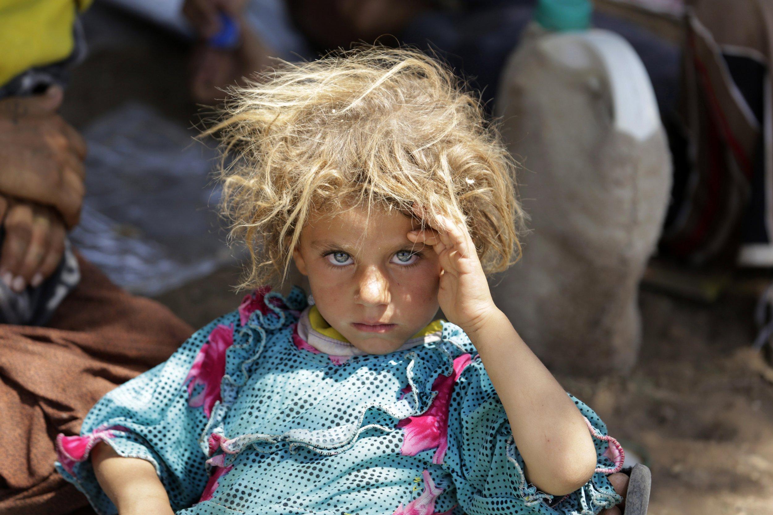 Yazidi child