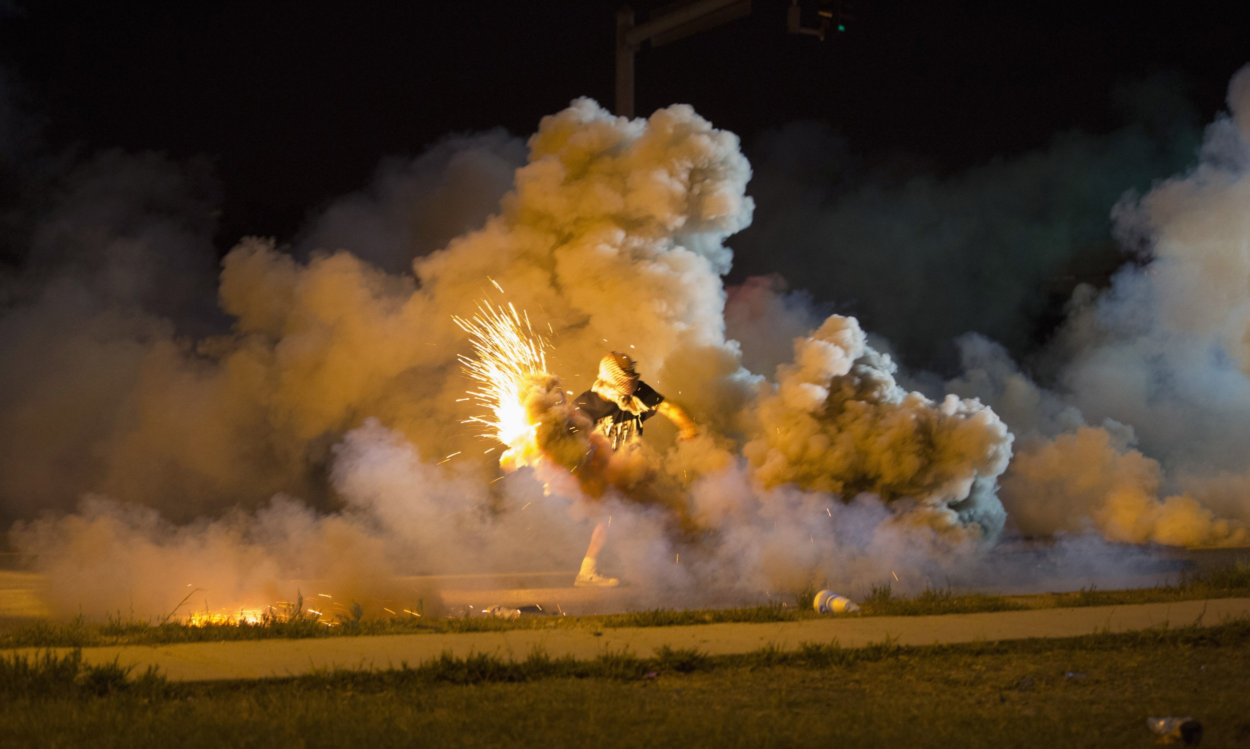 Police Fire Tear Gas and Stun Grenades in Ferguson After ...