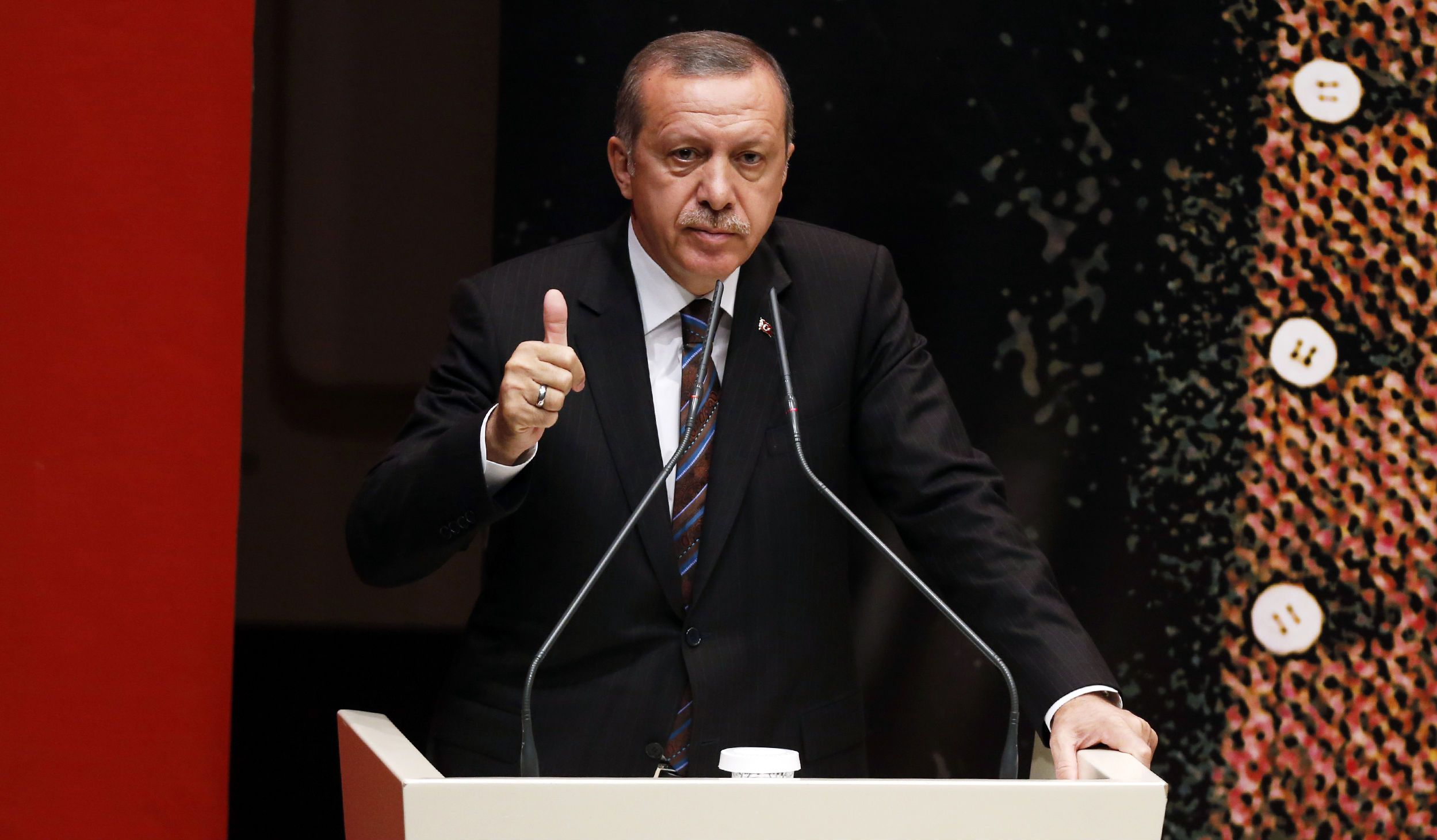 Erdogan thumbs up