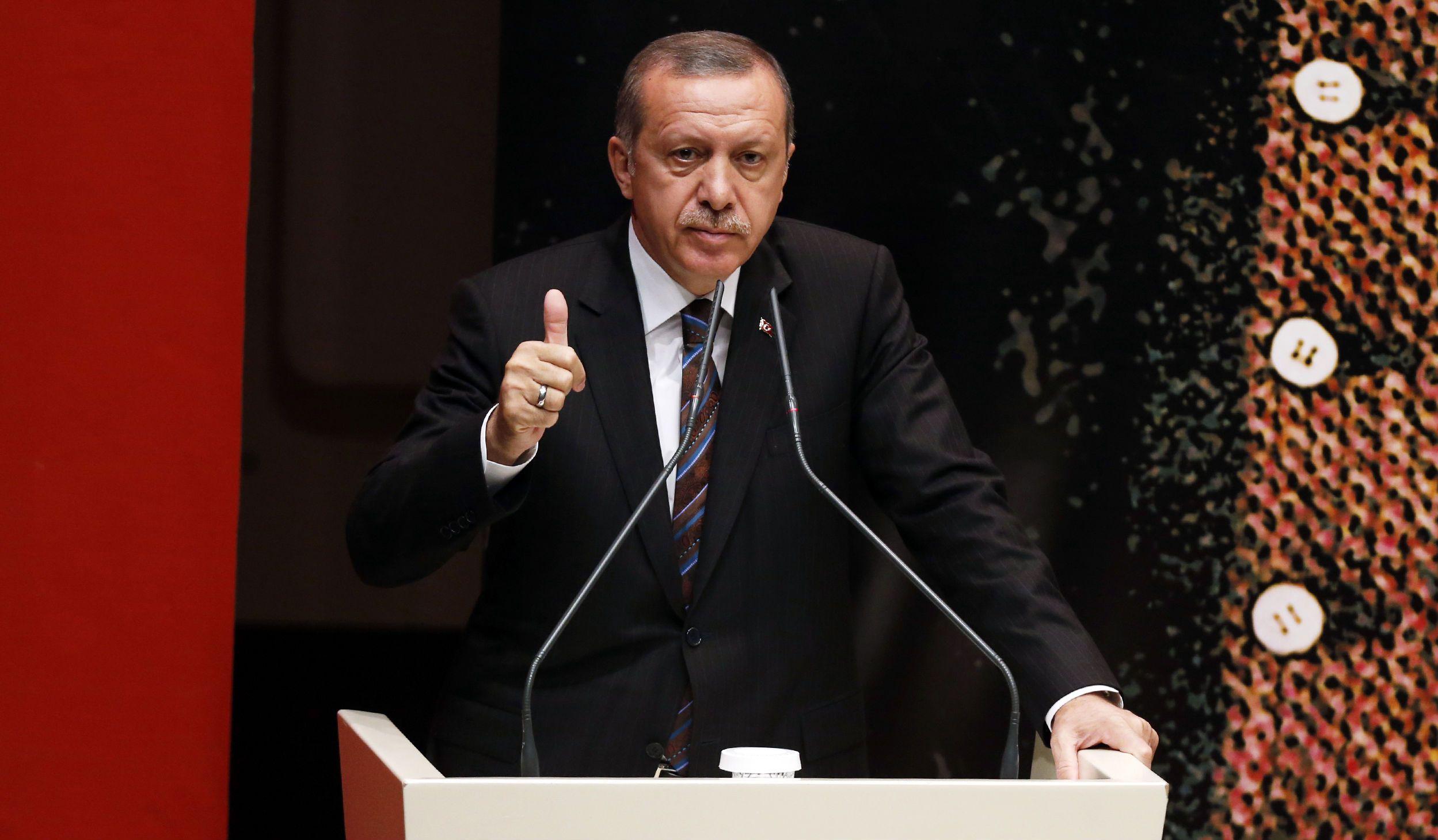 Erdogan thumbs up
