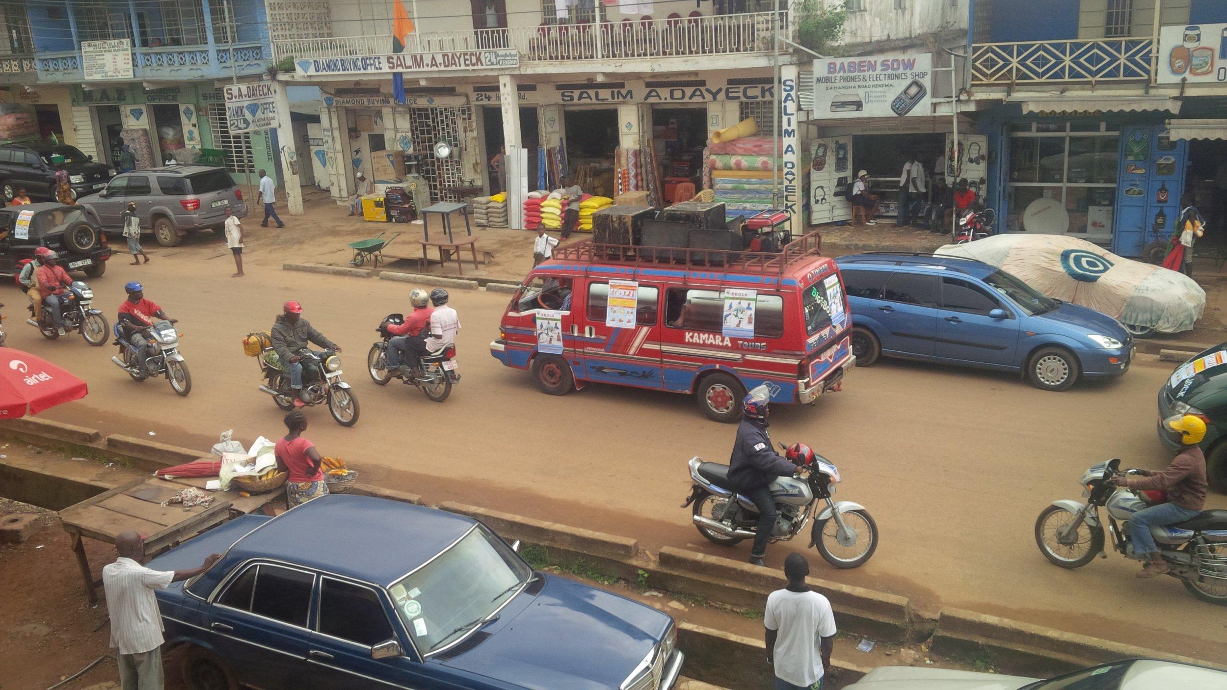 Ebola Sensitization vehicle