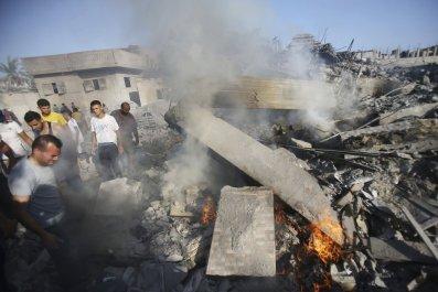 Gaza house destroyed