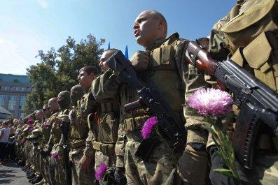 Ukrainian volunteers