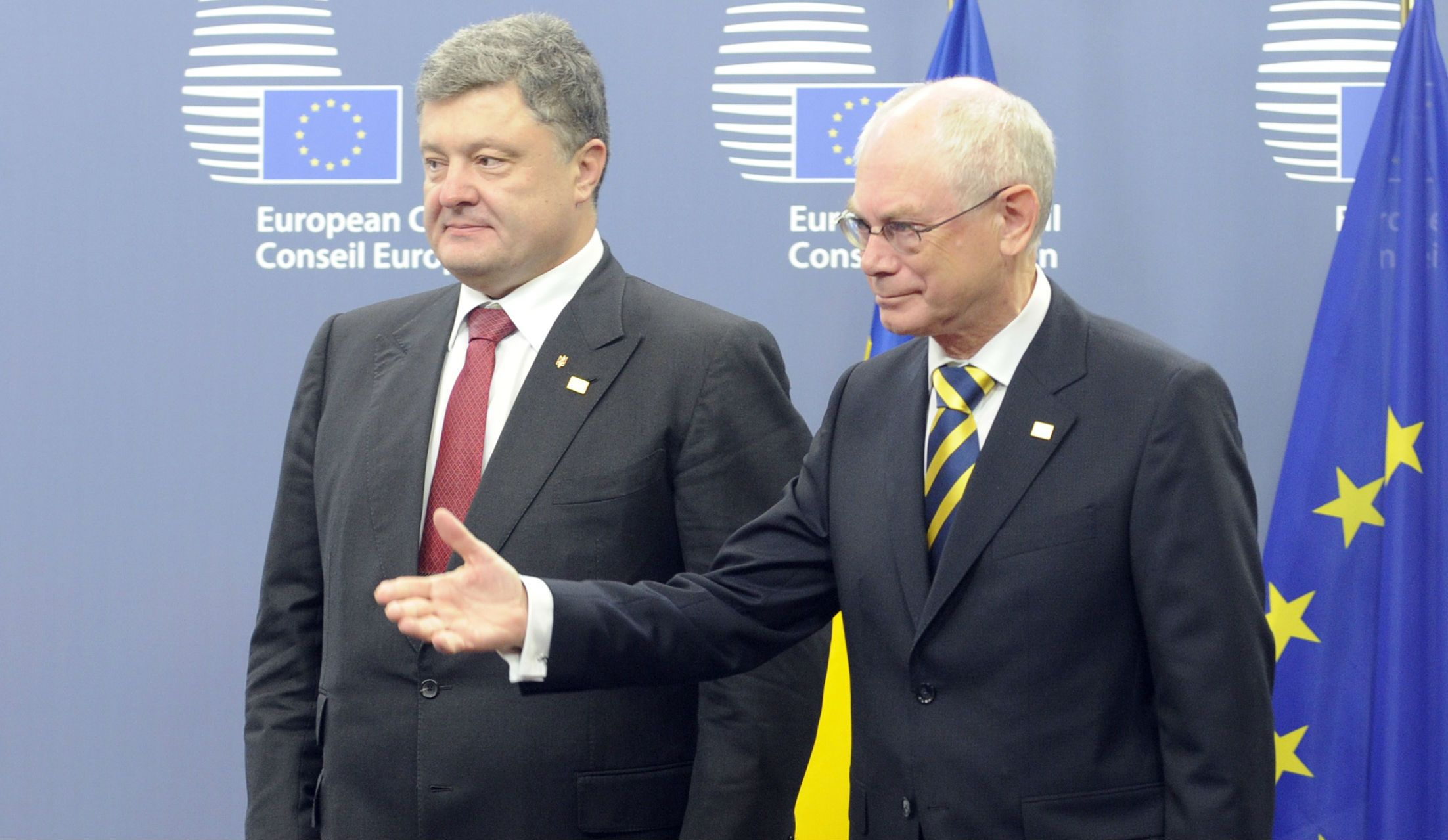 Poroshenko and Van Rompuy