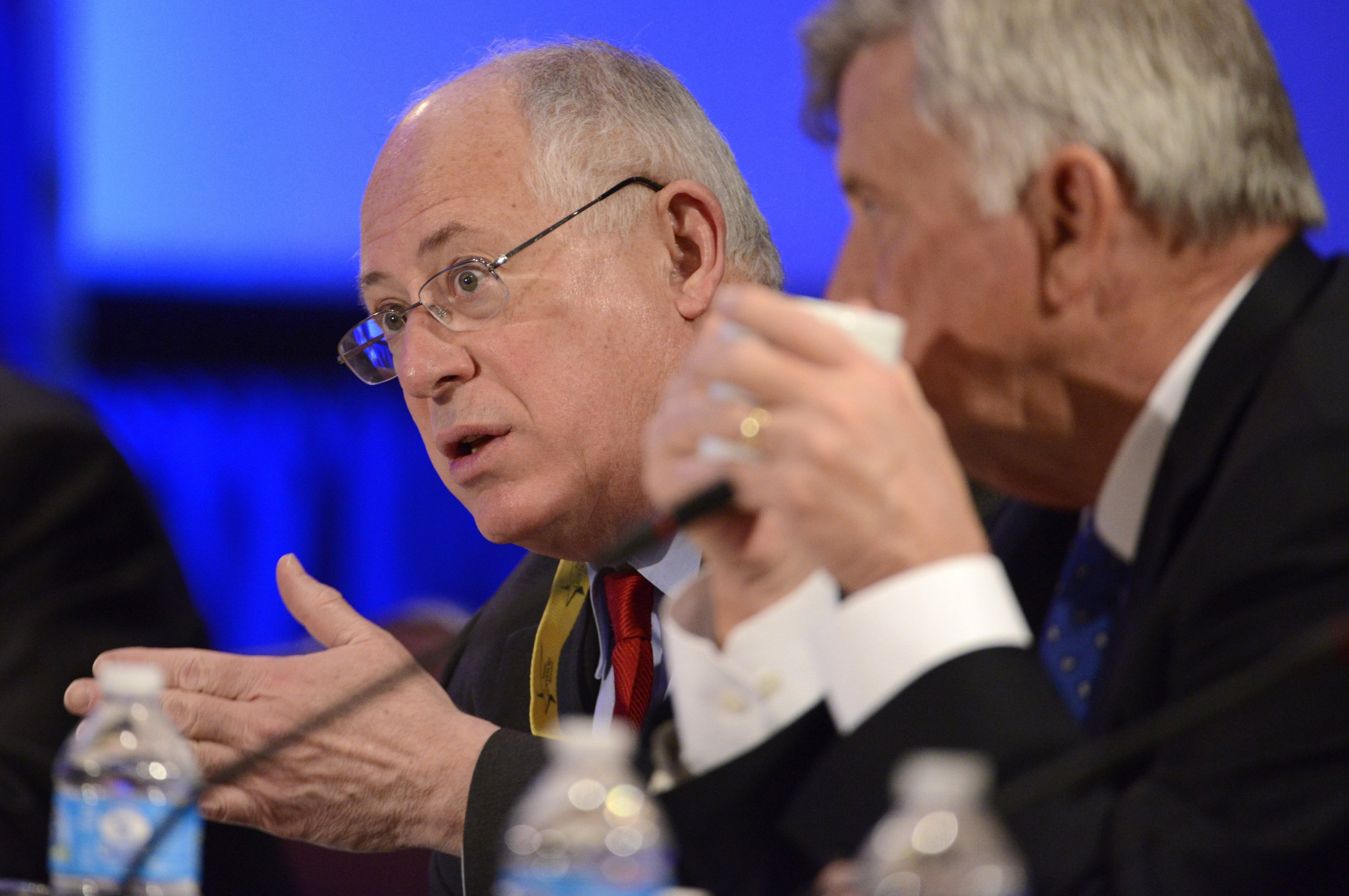 "Democratic Governor Pat Quinn of Illinois makes remarks during a ""Growth and Jobs in America"" discussion at the National Governors Association Winter Meeting in Washington, February 23, 2014."