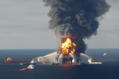 BP Oil Spill fire
