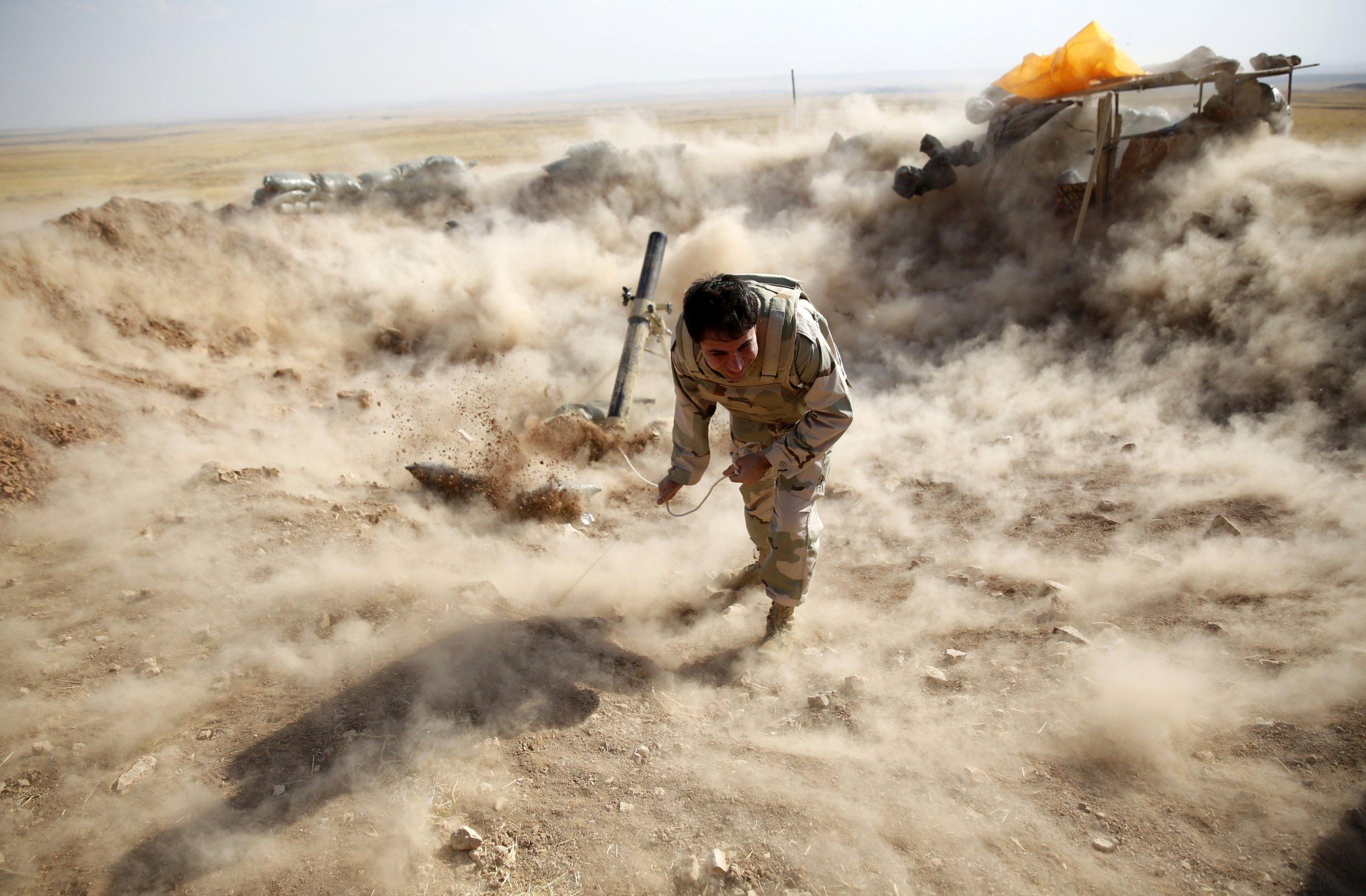 Peshmerga mortar