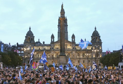 George Square rally