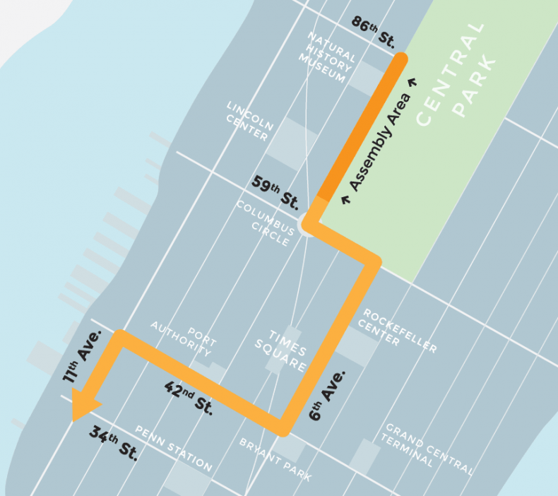 Climate March Route
