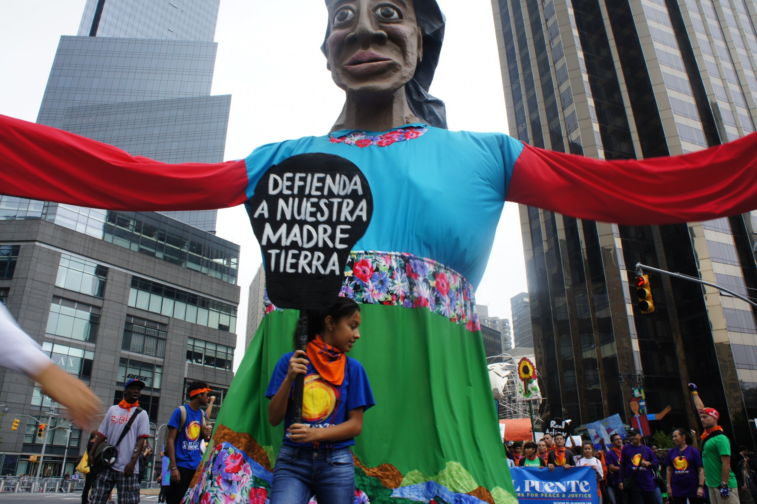 Mother Earth Puppet Climate March