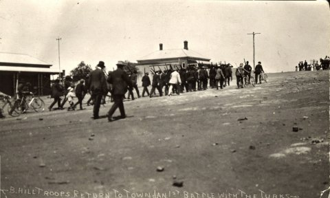 Some of the troops involved with the battle