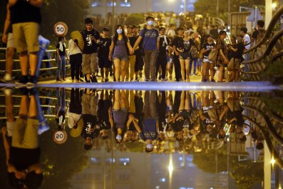 Rain or Shine: Hong Kong's Protesters Stay On