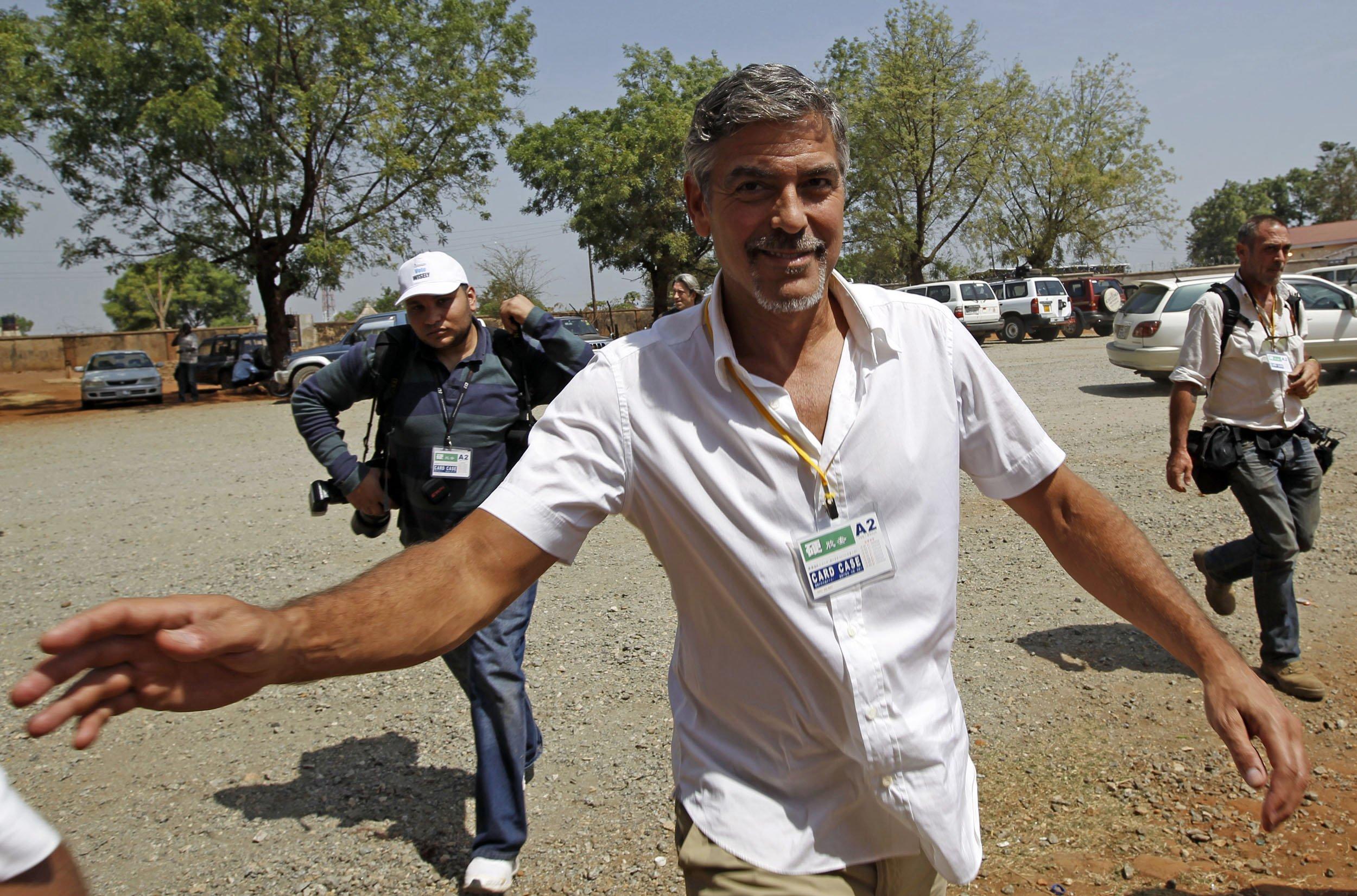 Clooney in Juba