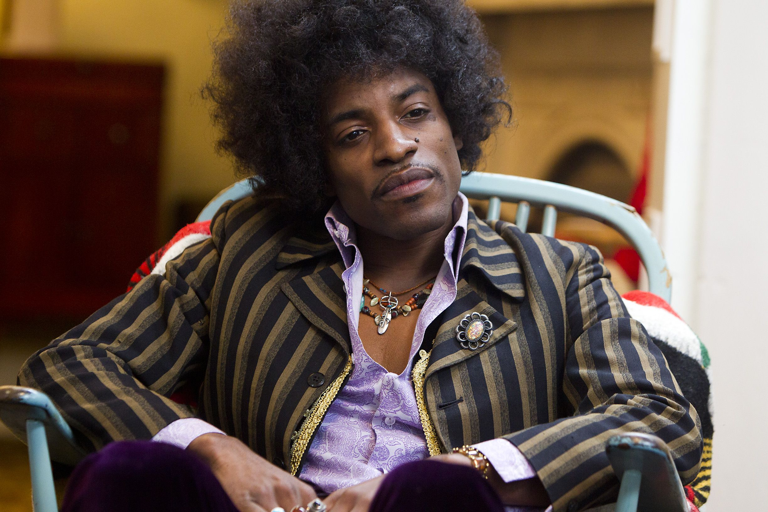 """André Benjamin as Jimi Hendrix in the biopic """"JIMI: ALL IS BY MY SIDE,"""" an XLrator Media release."""
