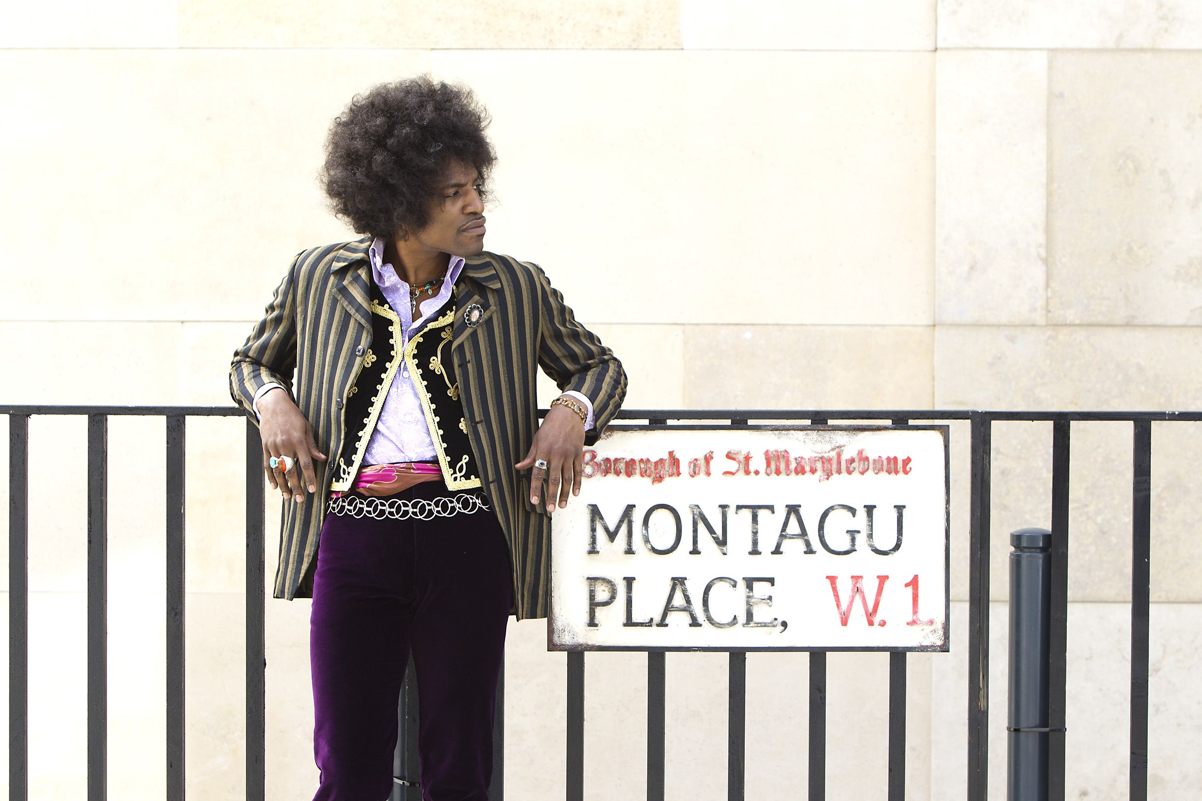 """André Benjamin as Jimi Hendrix in the drama/biopic """"JIMI: ALL IS BY MY SIDE,"""" an XLrator Media release."""