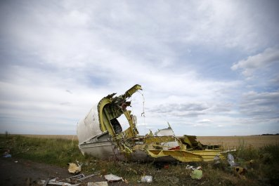 Malaysia Airlines wreckage