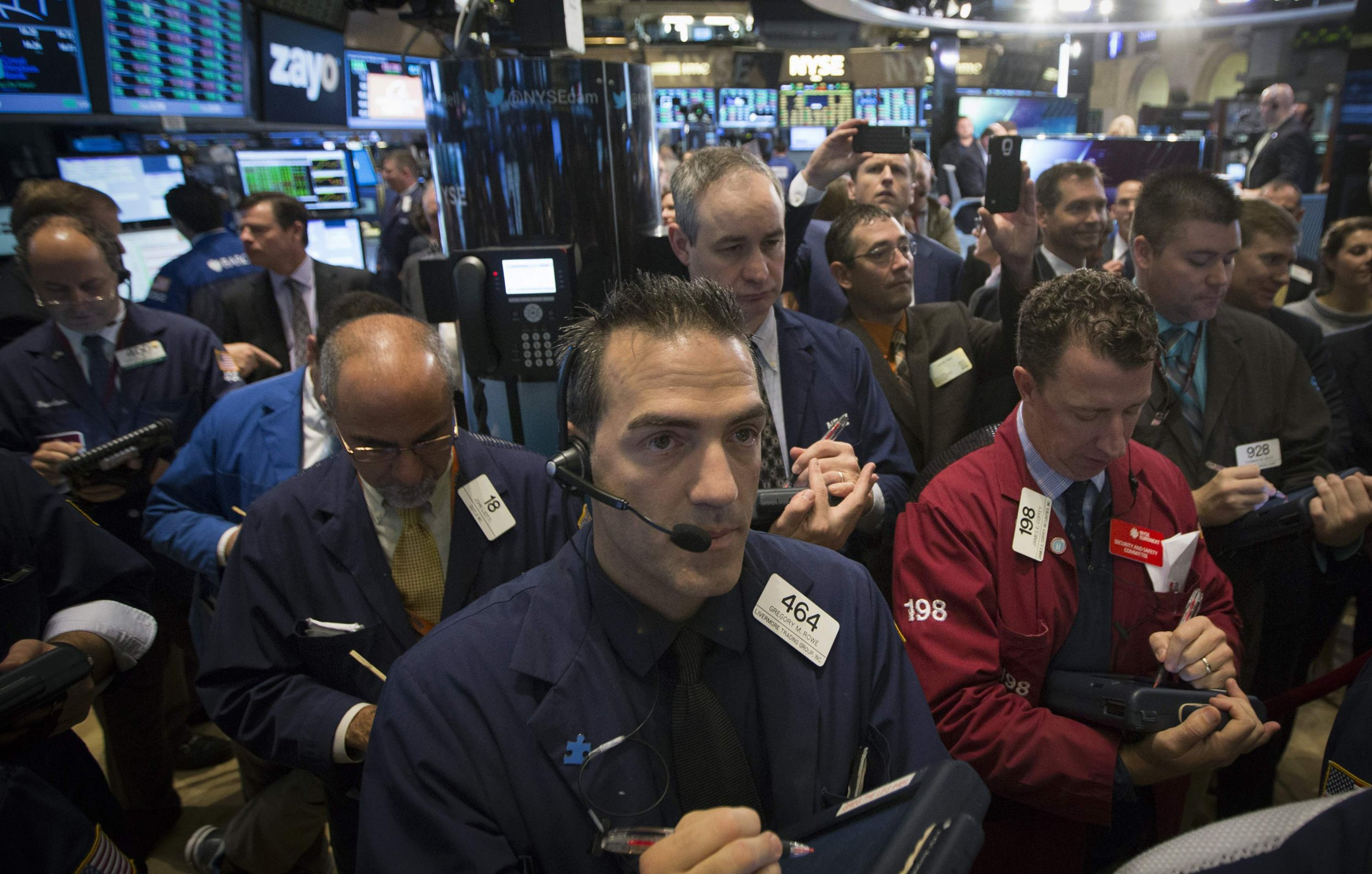 Stocks swing