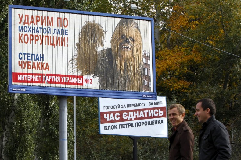 Ukraine Chewbacca poster