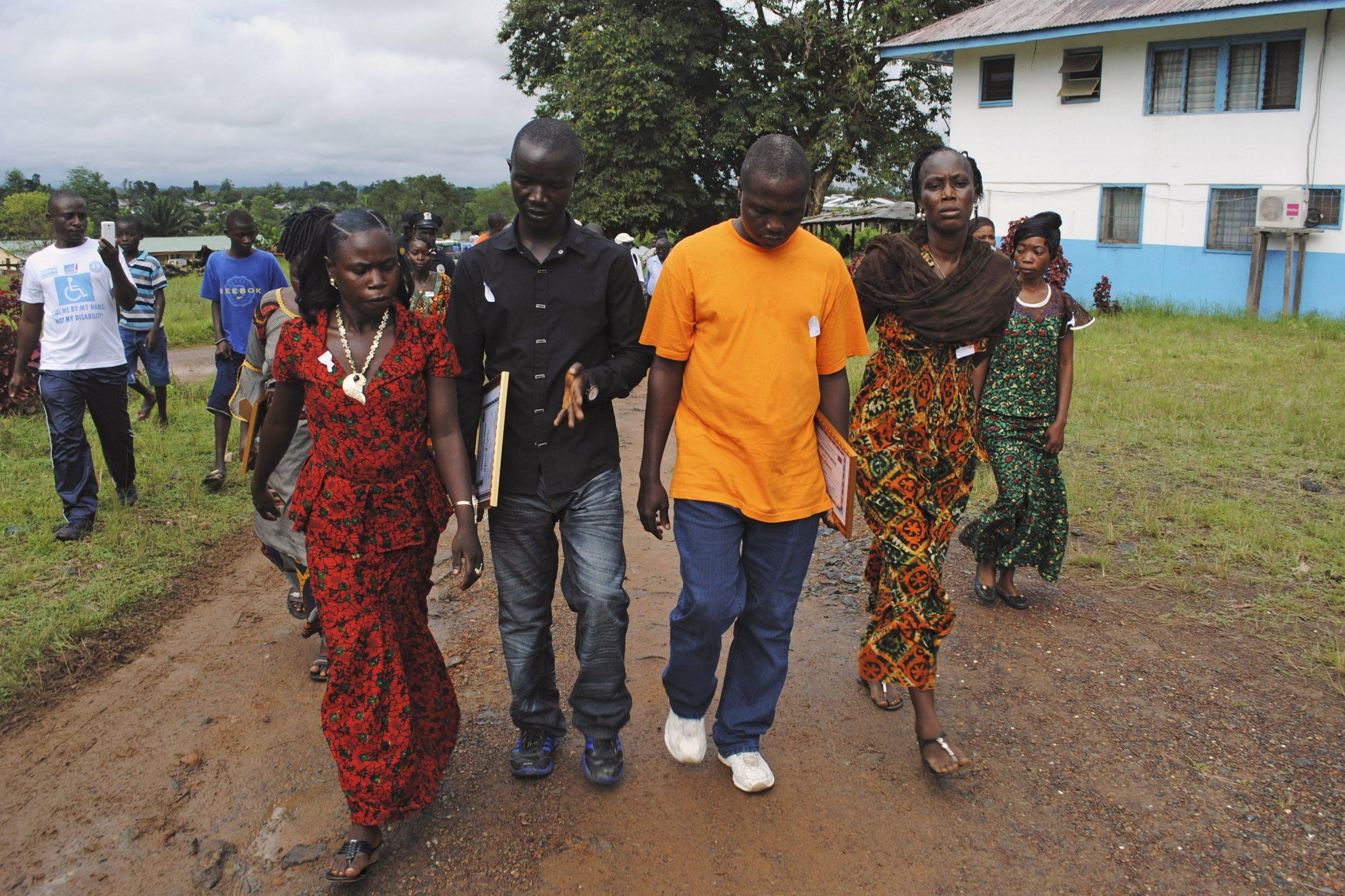 10-30-14 Ebola survivors Monrovia