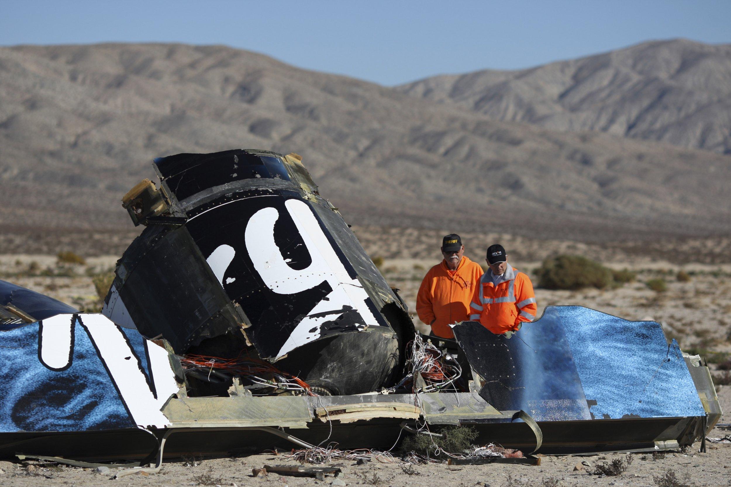 Virgin Galactic crash site