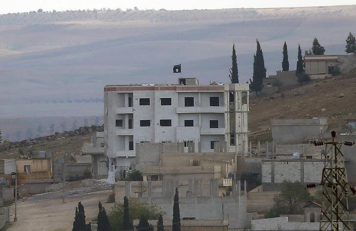 Islamic State Flag in Kobani