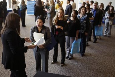 unemployment rate falls to six-year low
