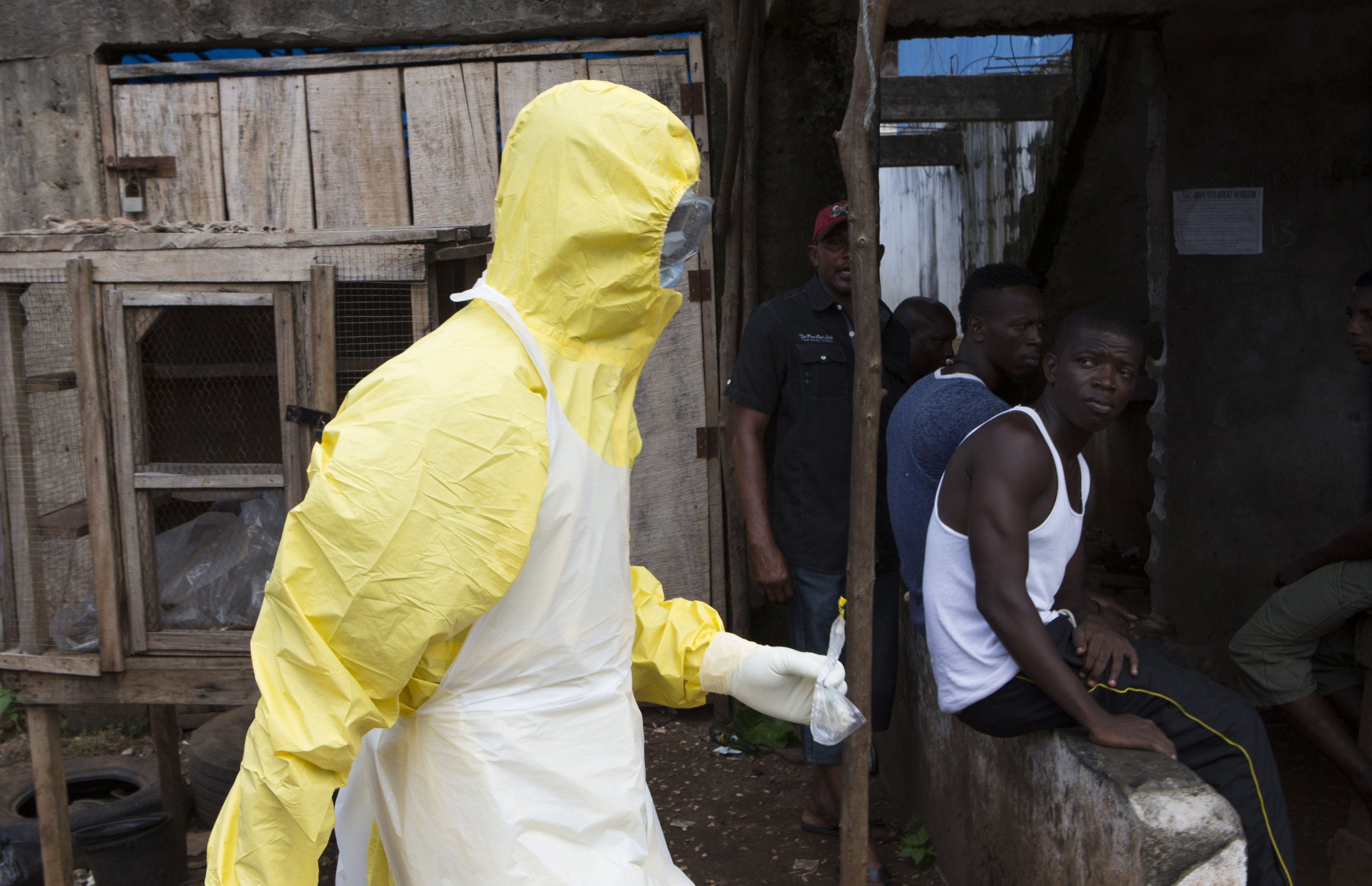 Ebola worker in Freetown